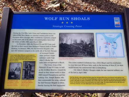 Wolf Run Shoals Historical Plaque